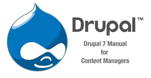 Drupal 7 Manual for Content Managers